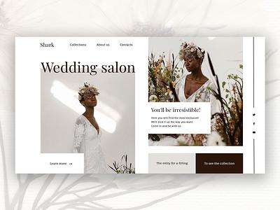Wedding salon landing page salon uidesigner designer wedding