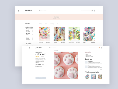 Online sweets store freelance web design ux ui store sweets online