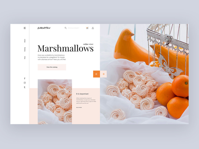 Sweets delicious marshmallow ux ui sweets landing page