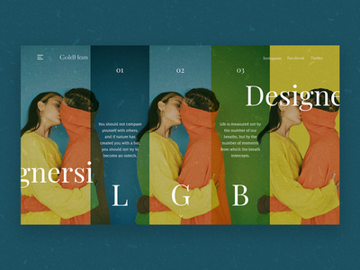 Be yourself non-standard girls web design ux ui