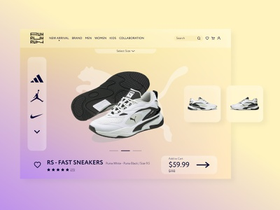 RUN - Shopping App Design for Running Shoes figma design minimalist sport shoes running app graphic design branding ui