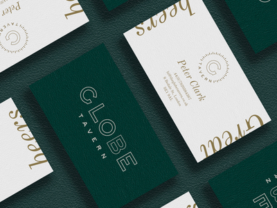Globe business cards