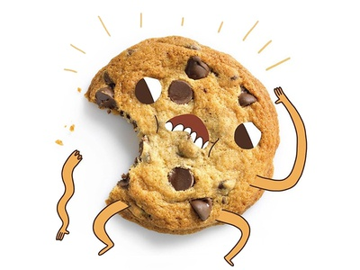 Cookie Boy illustrator drawing art doodle food weird cute character design illustration cookie