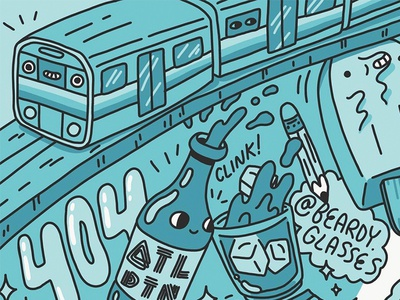 Train doodles blue cute art doodle 404 martra subway train illustation atlanta atl