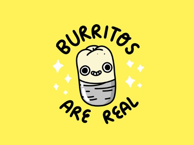 Burrtios Are Real cute illustraion food and drink burritos