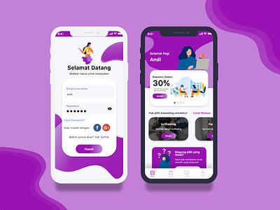 Psycosufism Mobile App Design purple psychologist psychology wellness mentalhealth appdesign uxdesign prototype clean mockup adobexd startup flat design app mobile app uiux ux ui