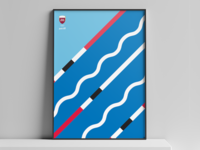 Olympic Team Qatar Posters - Swimming