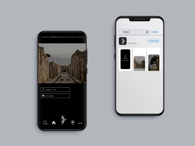 TREED// Icon and mobile interface of the application logo mobile app icon branding ui interface