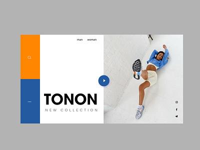 TONON// website for a sportswear brand illustration design art logo vector ux ui branding website web