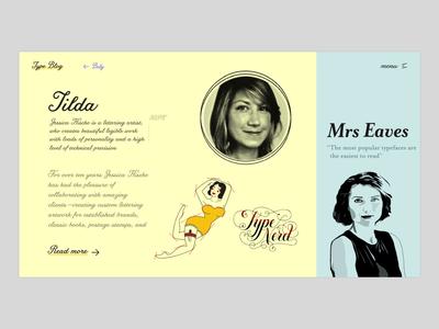 The Typography Blog - Tilda