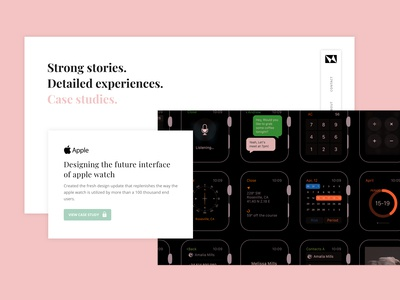 Product designer -  Case studies page