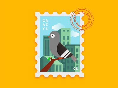 Postage stamp illustration app design illustrator webdesign artwork uidesign illustration art illustrations postage stamp pigeon art animal animation app branding uxui illustration interaction design uiux ui