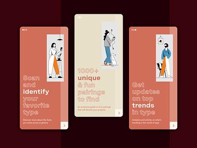 Typography app (1) texture typographies webdesign app design illustraion font typogaphy app web interaction motion design ux motion animation design uxui uiux ui