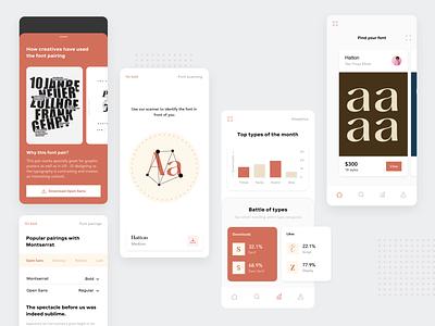 Typography app (3) ui  ux uidesign uxdesign illustraion app design fonts typographies typography app web interaction motion design motion ux animation design uxui uiux ui