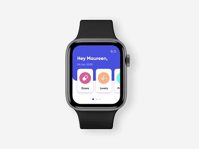 Medical Companion App on smart watch 3d graphic design motion graphics branding logo illustration motion ux animation design uxui uiux ui
