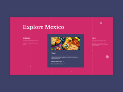 Menu page - Travel website