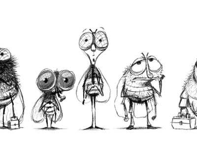fly line-up character design