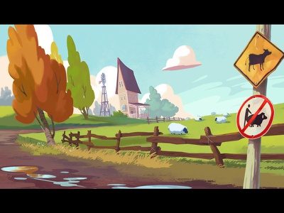 Super Sam trailer concept art animation