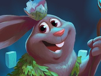 easter bunny wizard