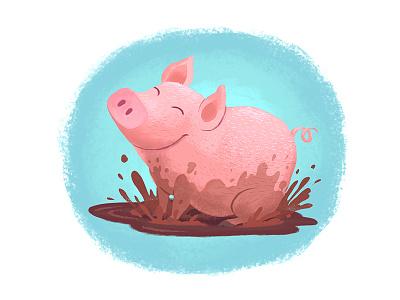 Pig illustrations children