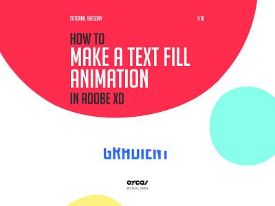 ✒️Text Fill Animation   Adobe XD app design uianimation uiux uxdesign uidesign ui text fill tutorial animation adobexd