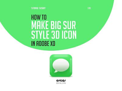 💬 Big Sur Style 3D Icon   Adobe XD ui  ux 3dicon 3d icondesign icon uxdesign uidesign uiux ui tutorial adobe xd big sur