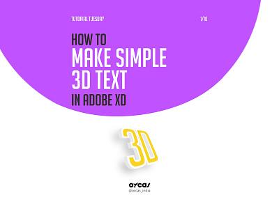💛Simple 3D Text | Adobe XD xd illustration uiux orcas design tutorial adobexd 3dtext 3d