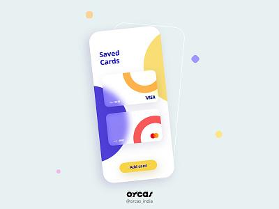 💳Saved cards (payment method) UI Design minimal ui ui  ux payment method appui app application app design uxdesign uiux ui uidesign