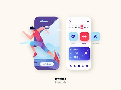 🏃Fitness Tracker   UI Design fitness app illustration app ui  ux design application app design ui uiux uidesign