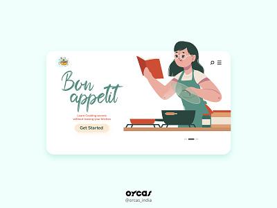 👩🍳Cooking Blog Landing Page   UI Design website design orcas foodblog webdesign vector uxdesign illustration ui  ux design application app design uiux ui uidesign