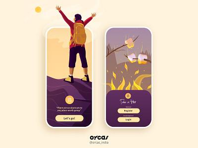⛰️🚶 Hiking App   UI Screen application app ui uiux illustration ui  ux design app design uxdesign uidesign