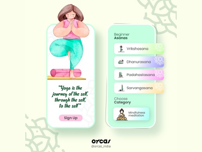 🧘Yoga app   UI Design design app illustration uiux ui ui  ux app design uxdesign yoga yoga app uidesign