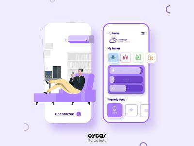 🏡 Smart Home App   UI Screen orcas india branding agency illustration app ui  ux app design uxdesign ui uiux uidesign