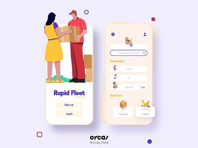 📦 Logistics app   UI design orcas india logistics illustration design app ui  ux app design uidesign uxdesign ui uiux