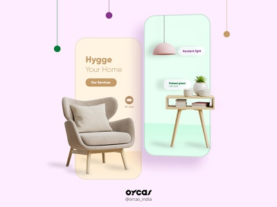 💺Furniture app | Onboarding UI app furniture app orcas india branding agency application illustration ui  ux app design uxdesign uiux uidesign