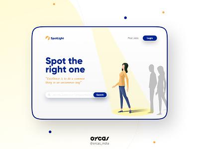 🔍 Job Portal Landing Page | UI Deisgn adobexd orcas india application illustration ui  ux uxdesign ui uiux uidesign web app job portal