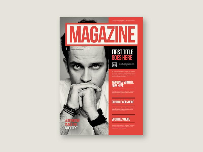 Retro Vintage Magazine typography vintage editorial magazine retro design brochure minimal modern download