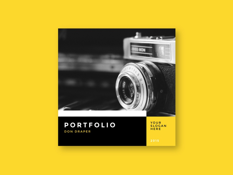 Simple Minimal Photography Portfolio print photography magazine portfolio design brochure minimal download modern