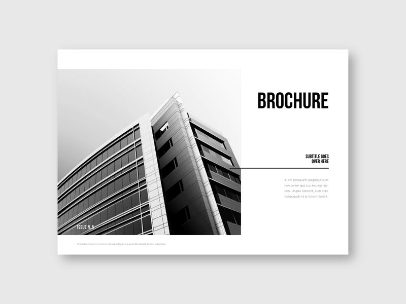 Minimal Black & White Architecture Brochure white print editorial modern sale brochure design minimal download