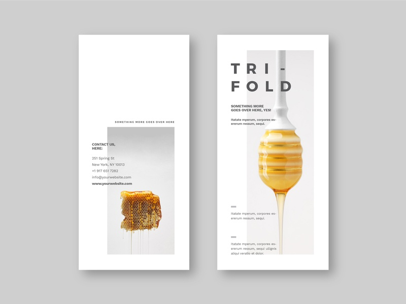 Minimal Cool White Trifold simple trifold brochure white trifold design brochure minimal modern download
