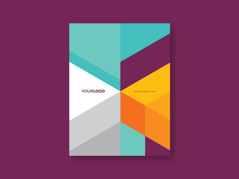 Modern Colorful Stationery branding print design stationery colorful minimal pattern modern template