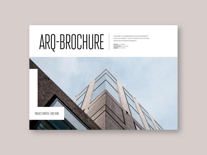 Simple Minimal Architecture Brochure editorial design print colorful brochure minimal modern sale template