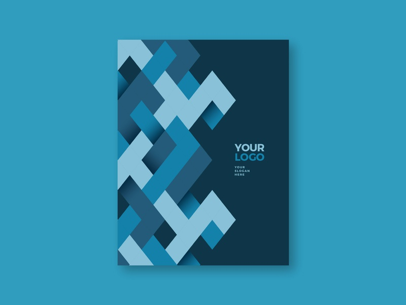 Modern Blue Pattern Stationery blue branding design print cool stationery colorful minimal pattern modern template