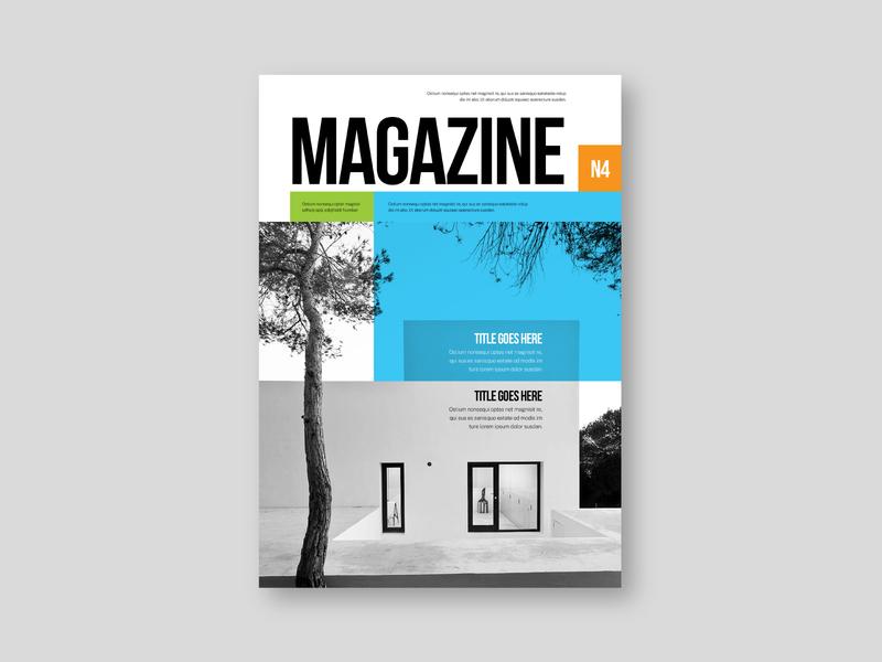 Modern Architecture Magazine colorful architecture magazine design brochure minimal modern download
