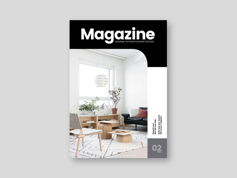 Minimal Interior Design Magazine editorial interior design magazine design branding magazine design brochure minimal modern template
