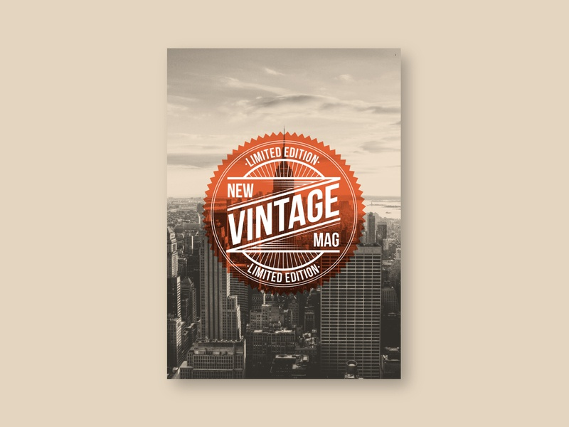 Cool Retro Vintage Magazine print design magazine design vintage retro editorial magazine design brochure minimal modern sale template