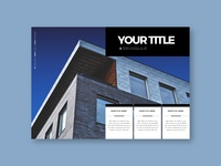 Minimal Architecture Brochure print design magazine portfolio architecture branding design brochure minimal modern template
