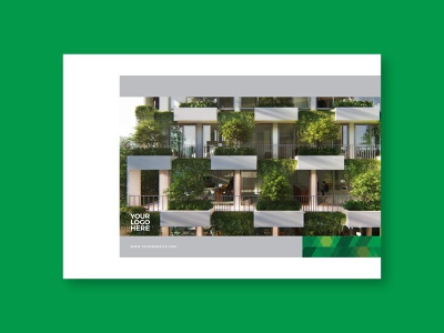 Eco Real Estate Brochure magazine brochure layout modern branding editorial brochure design green brochure design pattern minimal download template