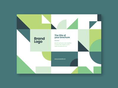Modern Green Architecture Brochure geometric green print branding design colorful brochure minimal modern download template