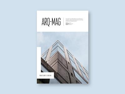 Simple Minimal Architecture Magazine magazine editorial print download template modern design minimal